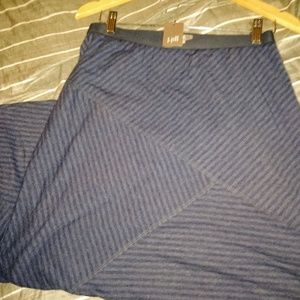 J. Jill NEW long blue atriped skirt